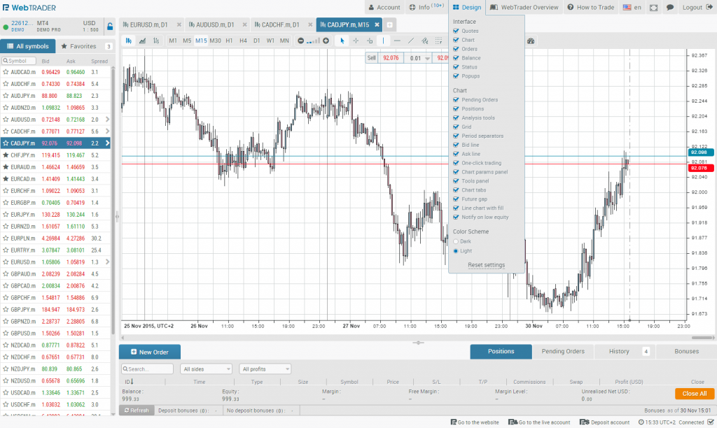 metatrader 4 web version 15