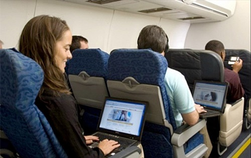 The Internet on plane